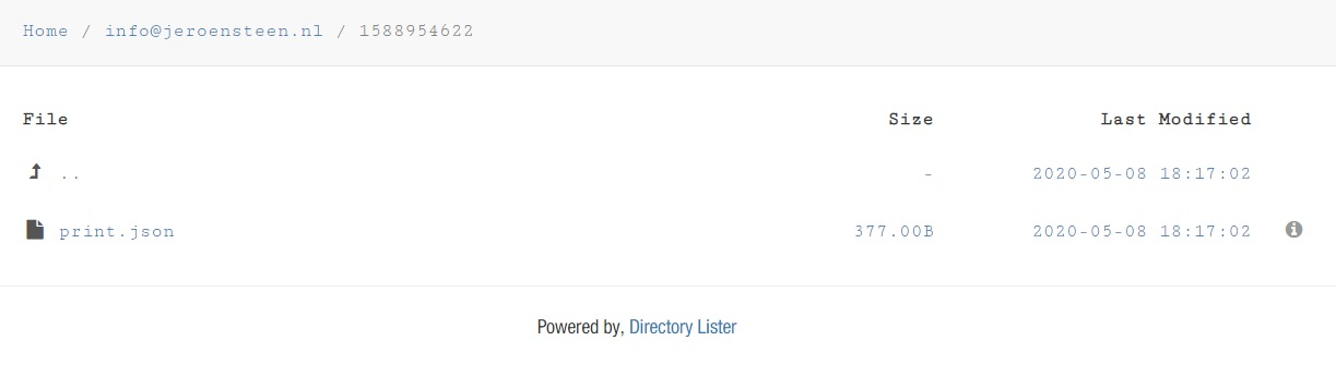 PHP: Directory Lister